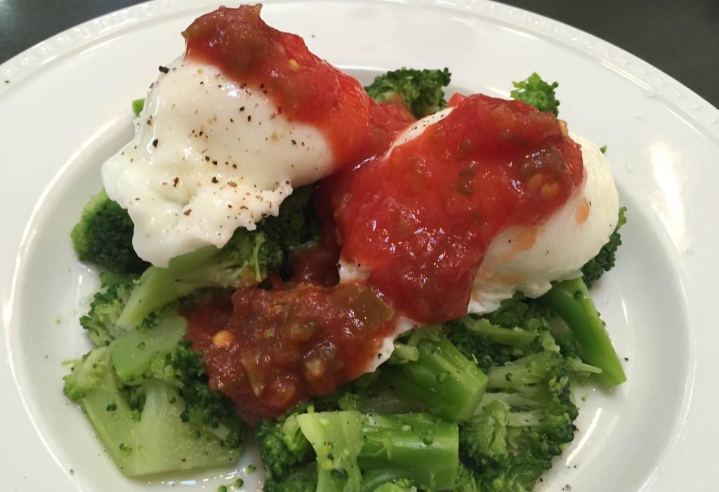 Broccoli, Eggs and Salsa